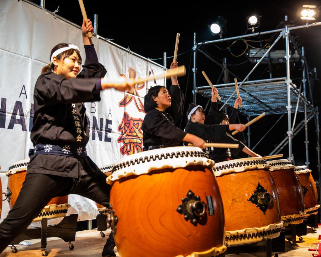Taiko drumming Happo One