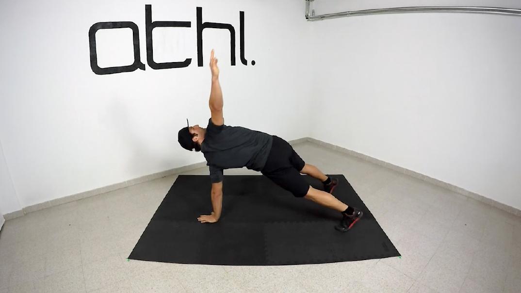 Ski Workout - Plank Trunk Cross 1 - ATHL Exercises