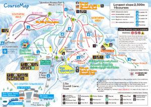 Top 10 places to Ski in Japan - Gala Yuzawa Trail Map