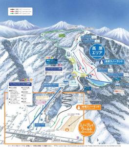 Top 10 Places to Ski in Japan - Yuzawa Kogen Trail Map